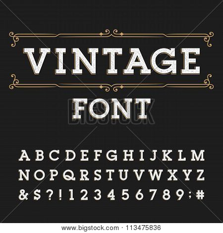 Distressed alphabet vector font