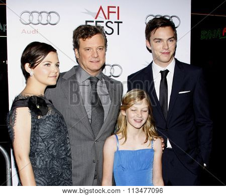 Ginnifer Goodwin, Colin Firth and Nicholas Hoult at the AFI FEST 2009 Screening of