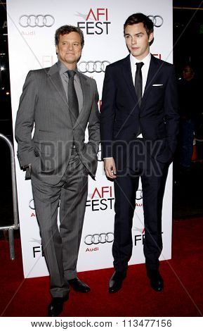 Nicholas Hoult and Colin Firth at the AFI FEST 2009 Screening of