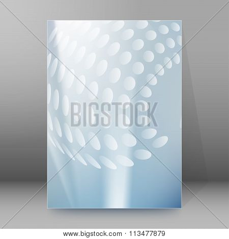Gray Glow Circles Background Brochure Cover Page