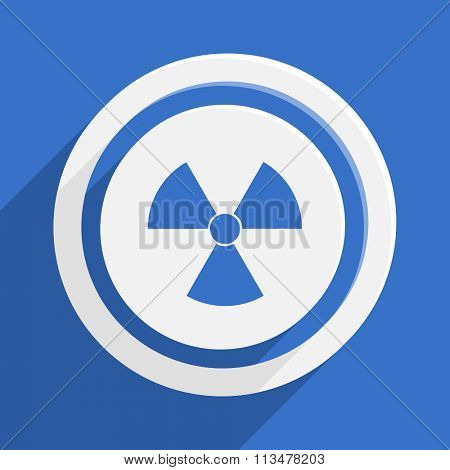 radiation blue flat design modern vector icon for web and mobile app