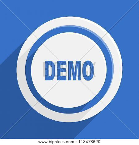 demo blue flat design modern vector icon for web and mobile app