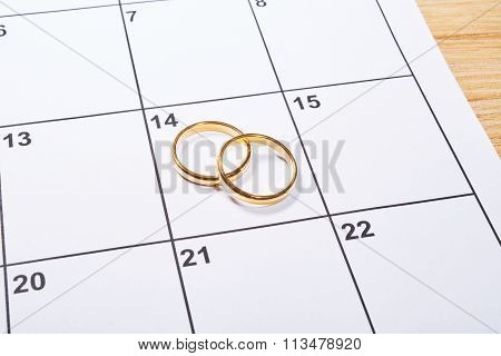 Valentines Day In Agenda With Ring