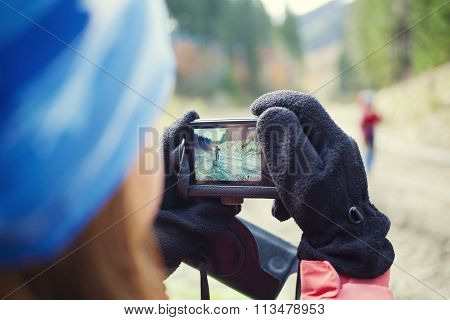People Taking Pictures Of Each Other.