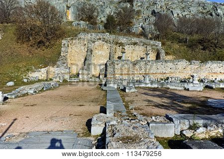 Amazing view of archeological area of Philippi, Eastern Macedonia and Thrace
