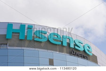 Hisense Arena sign