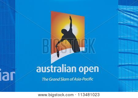 Billboard with Australian Open logo