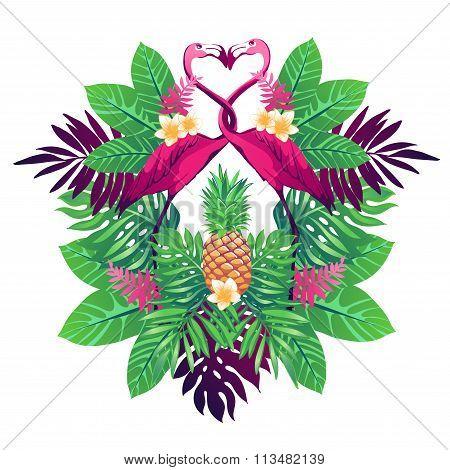 Tropical vector illustration.