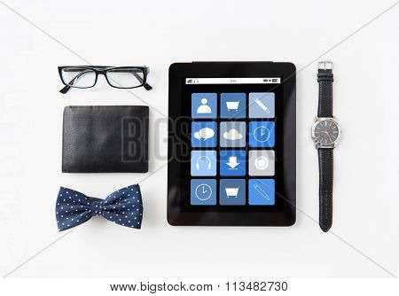 tablet pc with applications and personal stuff