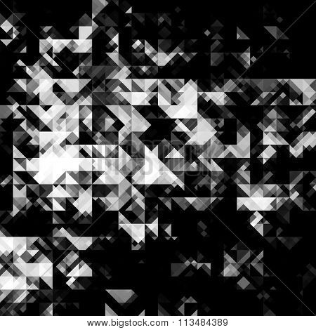 art abstract monochrome black, grey and white graphic background; seamless geometric pattern