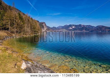 Shore Of Wolfgang Lake-salzkammergut,austria
