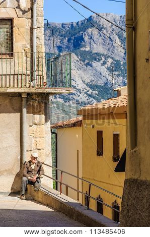 Medieval Streets In Sant Joan De Horta, Spain