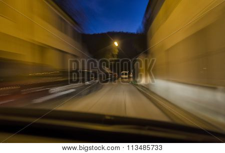 Car In Narrow Street