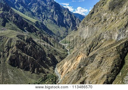 View With Vertigo In Colca Canyon, Peru