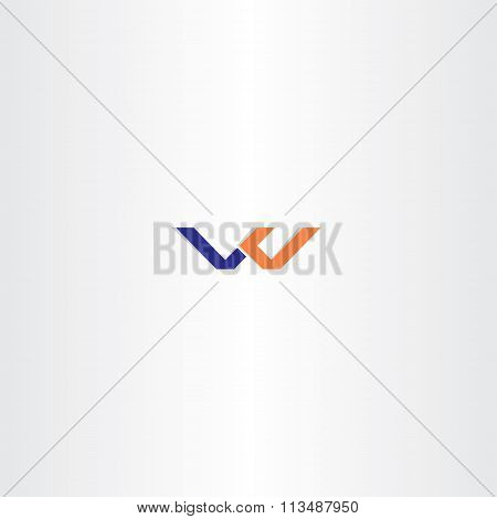 Blue Orange Letter W Logo W