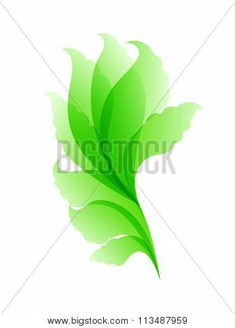 Abstract floral green pattern