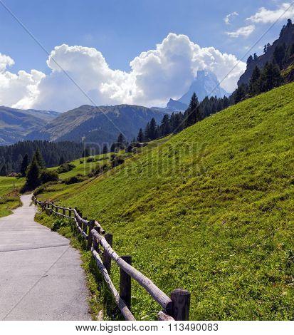 Way to Matterhorn, Switzerland