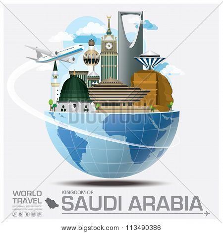 Kingdom Of Saudi Arabia Landmark Global Travel And Journey Infographic