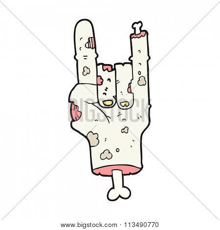 freehand drawn cartoon zombie hand