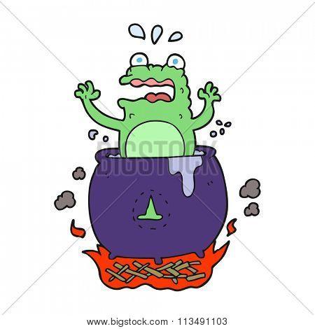 freehand drawn cartoon funny halloween toad