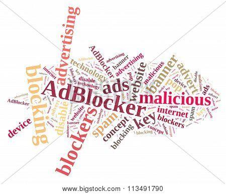 Word Cloud On Ad Blockers.