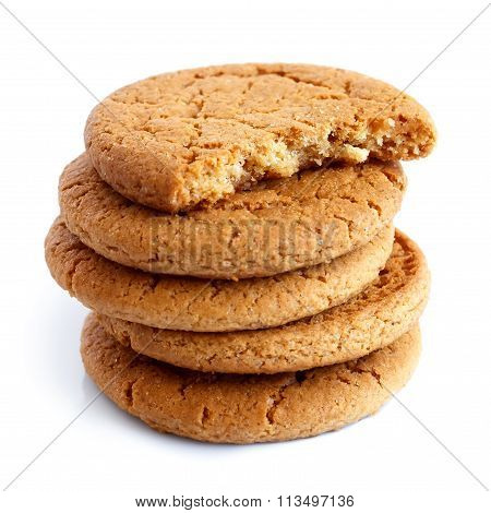 Stack Of Ginger Biscuits.