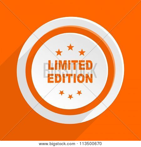 limited edition orange flat design modern icon for web and mobile app