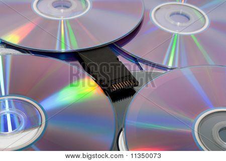 Compact discs.