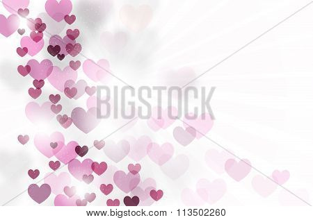 Abstract Background With Hearts And Copy Space