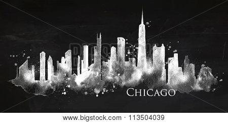 Silhouette Chalk Chicago