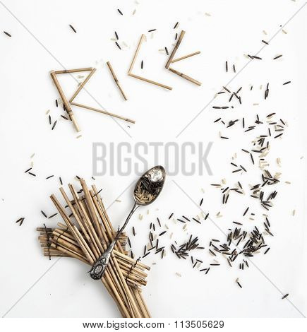rice variety , premium conceptual photo shoot