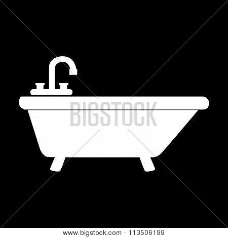White Bathtub Icon