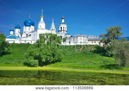 Orthodoxy monastery at Bogolyubovo in summer day. Russia