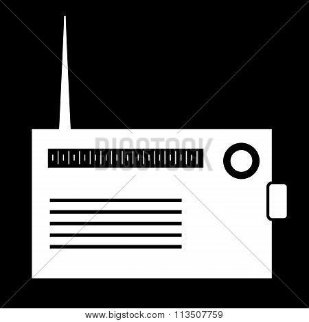 White Radio silhouette