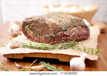 Raw Beef Rib Roast