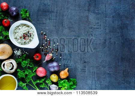 Various Spices And Vegetables