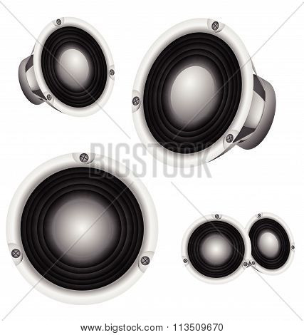 Loudspeaker Professional Power Speaker Vector Design