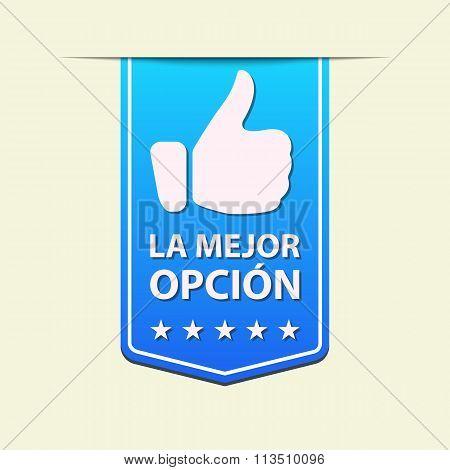 Best choice blue ribbon label