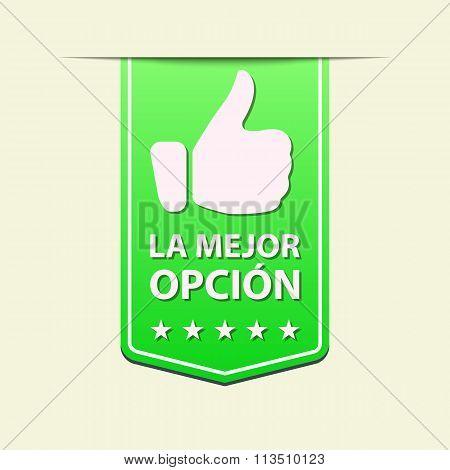 Best choice green ribbon label