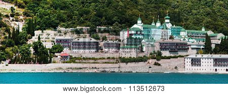 Russian St. Panteleimon Orthodox monastery at Mount Athos,  Halkidiki , Greece