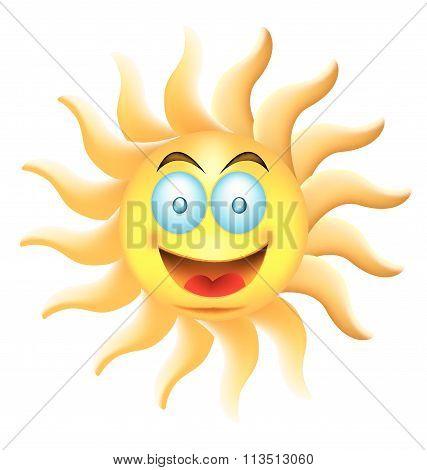Sun face and smiley vector design