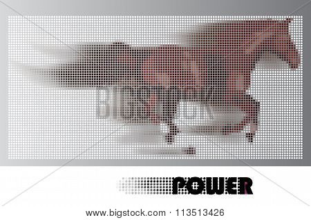 Horse power vector concept