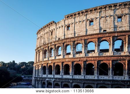 Colosseum in Rome in Rome, ITALY