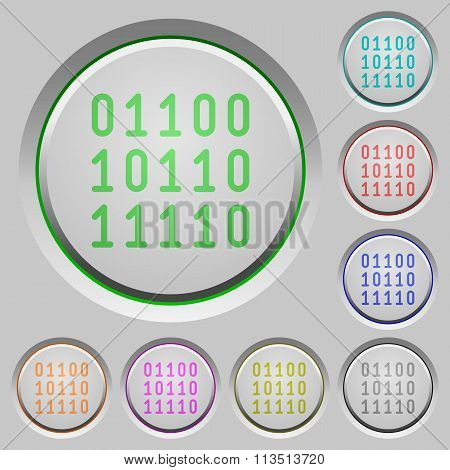 Binary Code Push Buttons