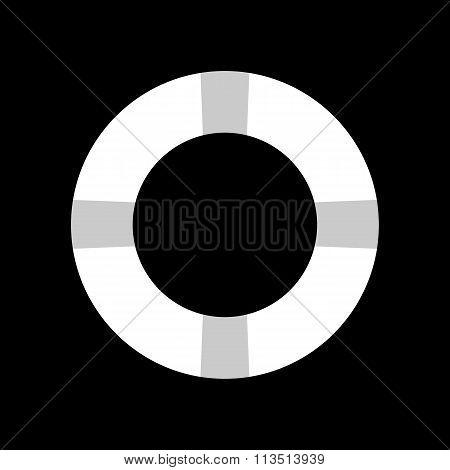 Lifebuoy icon. Vector illustration