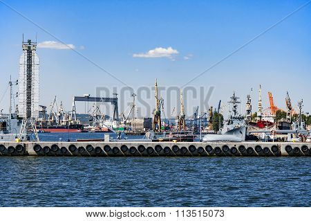 Port And Shipyard In Gdynia, Poland