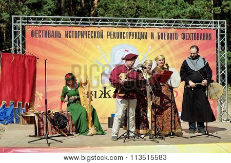 Novosibirsk, Russia - August 29, 2015: Festival Of Historical Reenactment And Historical Medieval Fi