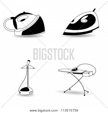 Steam electric iron icons