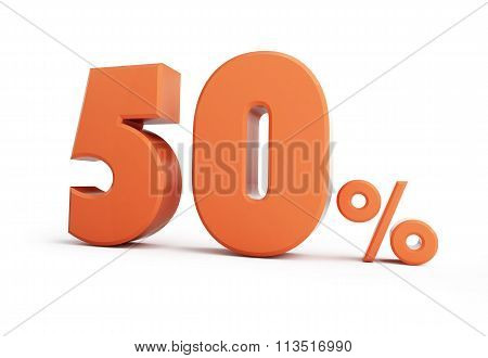 50 Percent Discount. On A White Background