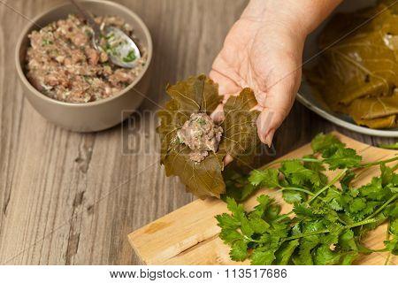 Raw Stuffed Grape Leaves